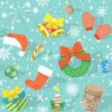 圣诞节五颜六色的模式 免版税图库摄影