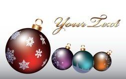 圣诞节五颜六色的玩具 图库摄影