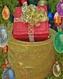 圣诞节五颜六色的礼品 免版税库存照片
