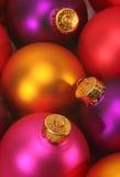 圣诞节五颜六色的装饰品 库存照片