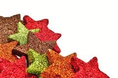 圣诞节五颜六色的装饰品 免版税图库摄影