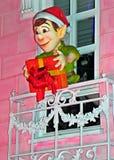 圣诞节五颜六色的装饰 免版税库存图片