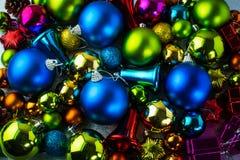 圣诞节五颜六色的装饰 图库摄影