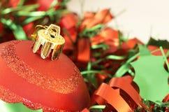 圣诞节五颜六色的装饰 库存图片