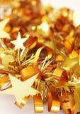 圣诞节五颜六色的闪亮金属片 免版税库存照片