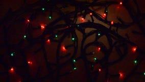 圣诞节五颜六色的闪光灯 影视素材