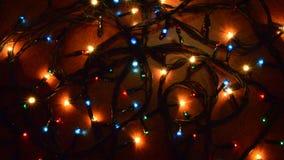 圣诞节五颜六色的闪光灯 股票录像