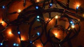 圣诞节五颜六色的闪光灯 股票视频