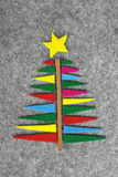 圣诞节五颜六色的结构树 免版税库存图片