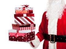 圣诞节产生存在圣诞老人的克劳斯 免版税库存图片