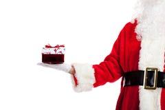 圣诞节产生存在圣诞老人的克劳斯 库存图片