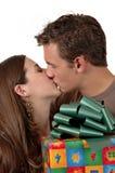 圣诞节亲吻 库存照片