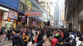 圣诞节人群香港 免版税库存图片