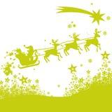 圣诞节人驯鹿和冰花 图库摄影