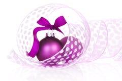 圣诞节仍然生活紫色 免版税库存照片