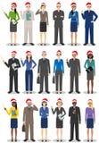圣诞节企业队 配合概念 套商人和妇女的另外详细的例证圣诞老人的 免版税库存图片