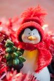 圣诞节企鹅 免版税图库摄影