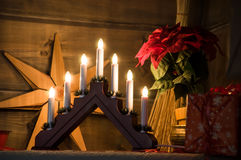 圣诞节传统在芬兰 免版税库存图片