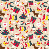圣诞节传统样式 新年度节假日 库存照片
