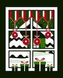 圣诞节例证光栅版本视窗 免版税图库摄影