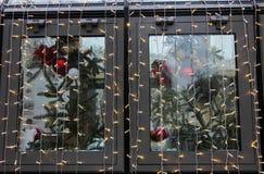 圣诞节例证光栅版本视窗 免版税库存图片