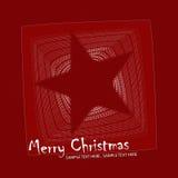 圣诞节例证明信片星形 库存图片
