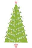 圣诞节例证现代结构树 库存图片