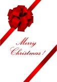 圣诞节例证红色丝带 库存例证