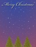 圣诞节例证结构树 免版税库存照片