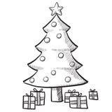 圣诞节例证结构树 图库摄影