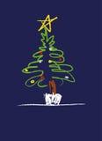 圣诞节例证结构树 皇族释放例证