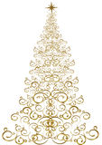 圣诞节例证结构树 库存图片