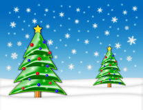 圣诞节例证结构树 库存照片