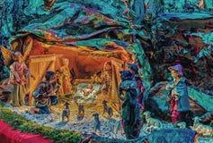 圣诞节例证诞生场面向量 免版税库存照片