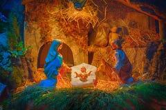 圣诞节例证诞生场面向量 免版税图库摄影