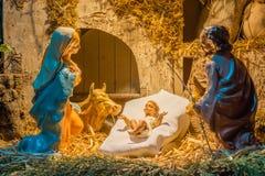 圣诞节例证诞生场面向量 图库摄影