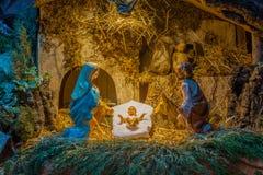 圣诞节例证诞生场面向量 库存照片