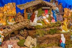 圣诞节例证诞生场面向量 免版税库存图片