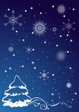 圣诞节例证-圣诞树。 免版税库存照片