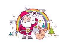 圣诞节例证 库存照片