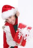 圣诞节俏丽的妇女 库存照片