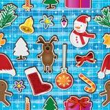 圣诞节保留愉快的无缝的模式 免版税库存照片