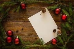 圣诞节信函圣诞老人 文本的空间 图库摄影