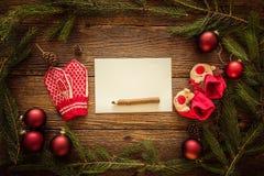 圣诞节信函圣诞老人 文本的空间 库存照片