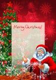 圣诞节信函魔术 库存图片