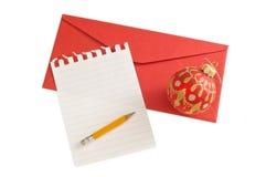 圣诞节信函 免版税库存图片