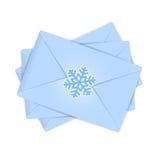 圣诞节信封 免版税库存图片