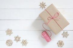 圣诞节假日和新年快乐背景 圣诞节Deco 免版税图库摄影