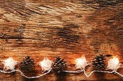 圣诞节假日和新年快乐背景 圣诞节ligh 库存图片