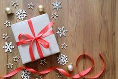 圣诞节假日和新年快乐背景 礼物盒机智 库存图片